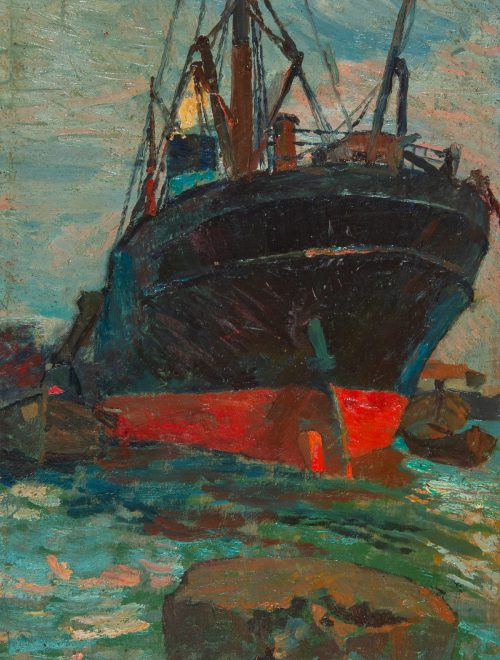 Vapore nel porto