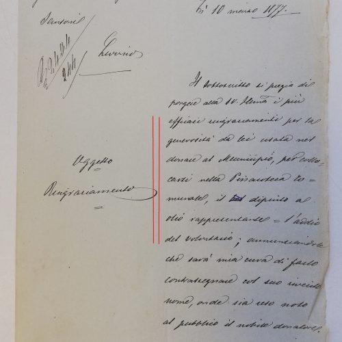 Lettera a Eugenio Sansoni