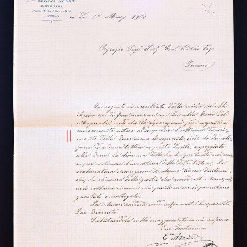 Lettera di Enrico Azzati...