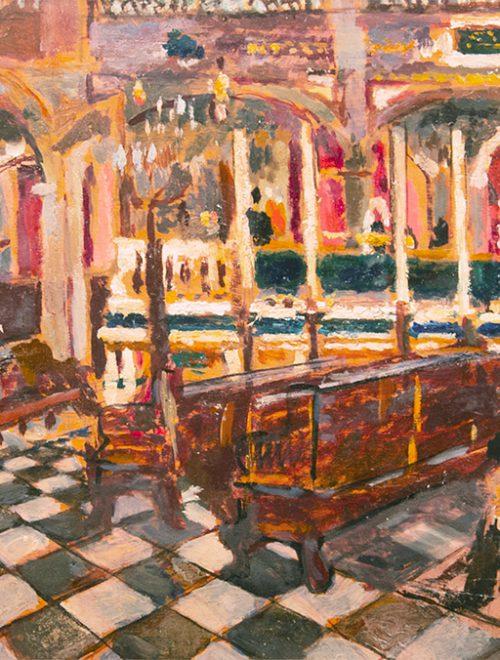 L'interno della Sinagoga di Livorno