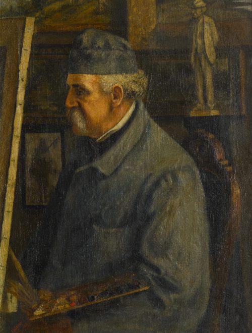 Giovanni Fattori nello studio