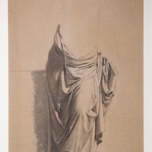 E. Pollastrini, <em>Studio di panneggio</em>...