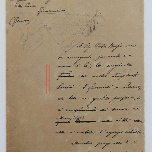 Lettera del Sindaco di Livorno...