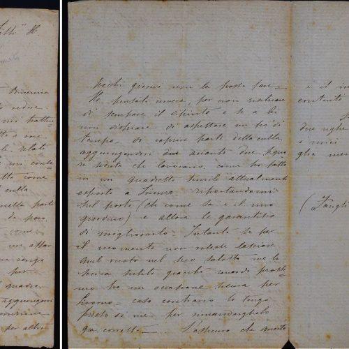 Lettera di Angiolo Tommasi