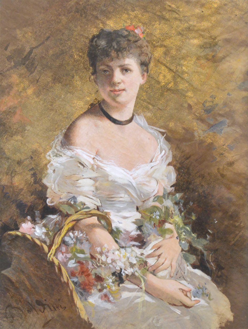 Ritratto di signora con fiori