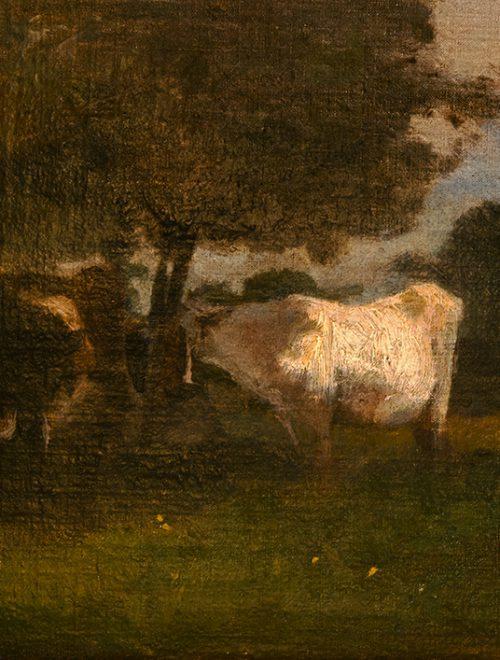 Paesaggio con bovi