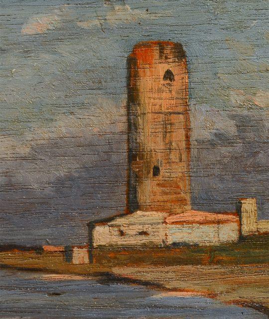 <p><em>Torre Rossa</em>, un&#8217;antica torre del Porto pisano ora scomparsa</p>