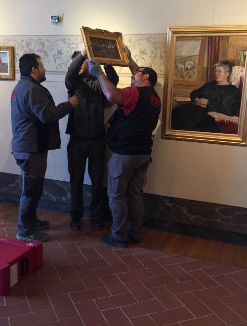 Tornata al Museo Fattori la Signora Martelli. Gotine rosse ripartita per Torino