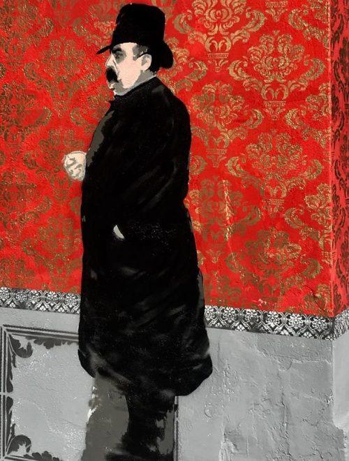 Un murale ispirato al Museo Fattori, tra Yorick e le Cenciaiole