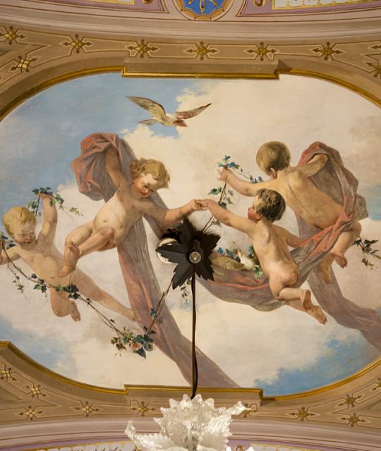 Gli affreschi di Villa Mimbelli