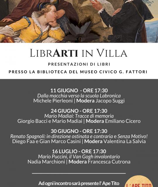 LibrArti: presentazioni d'arte in Villa Mimbelli