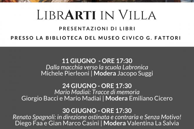 LibrArti presentazioni libri in villa