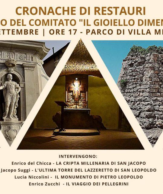 Il comitato Il Gioiello dimenticato presenta alcuni importanti restauri di monumenti